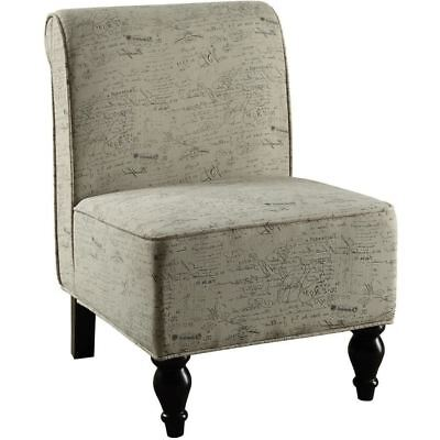 Monarch Specialties I 8123 Accent Chair Vintage French Traditional Fabric