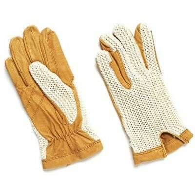 Matchmakers Harry Hall Crochet Back Gloves - Cream, Large - Cream Riding Horse