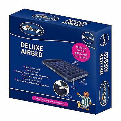 Silentnight Flock Airbed With Integrated Foot Pump - Double