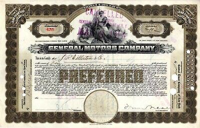 General Motors Company 1916 ( First Year) Stock Certificate #4269