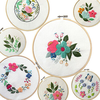 Wooden Cross Stitch Machine Embroidery Hoop Ring Bamboo Sewing 13-30cm AR5&