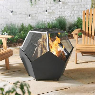 Garden Outdoor Fire Pit Bbq Burner Heater Patio Steel Grill Bowl Stove Camping