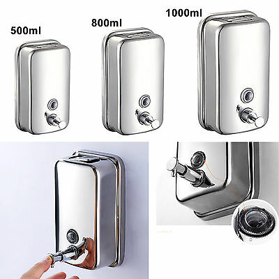 Wall Mounted Soap Dispenser Toilet Shower Gel Shampoo Lotion Conditioner&