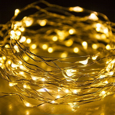 2-10 M Battery Powered Copper Wire String Fairy Xmas Party Lights Warm White #@