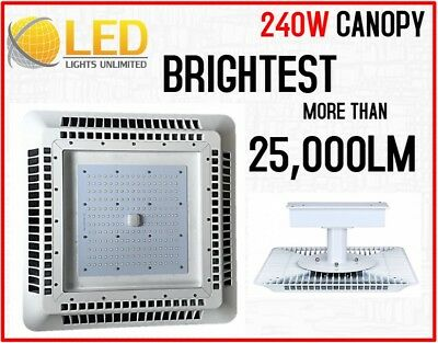 Super Bright LED 240W Canopy Light for Gas Station, 5700K, UL/DLC Listed Outdoor
