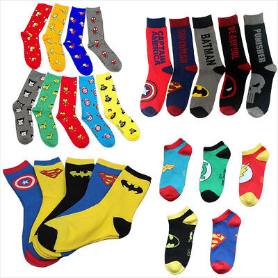 New Mens Womens Kids Superhero Character Avengers Comics Marvel Ankle Socks Lot