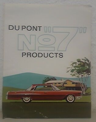 Lot of 8 Dupont Du Pont No7 Products Brochure wall hanger