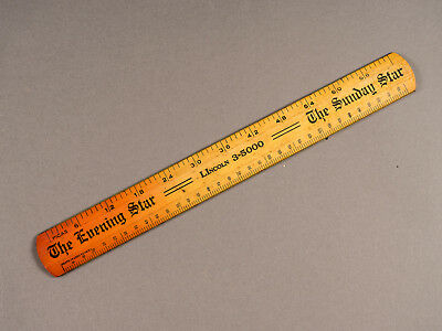 Vintage Washington Evening Star Newspaper Printer's Ruler Westcott Pica Agate