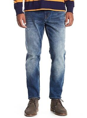 exclusive deals great variety models hot sales HUDSON JEANS MEN'S Sartor Relaxed Skinny Leg Jeans Warp Speed $205 msrp NWT