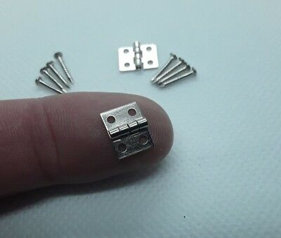 Small Tiny Miniature Silver Hinges for Fairy Door Dolls House BUY 2 get 1 FREE!