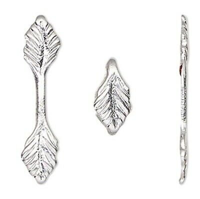 10 Silver Plated Brass Fold /& Glue on Pendant Leaf Bails with 14mm Grip Length