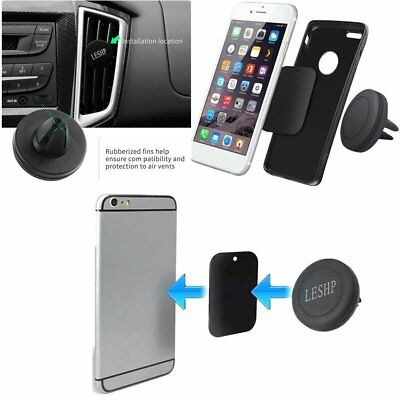 360° Rotating Car Air Vent Phone Holder Mount Stand Magnetic for Cellphone  MM