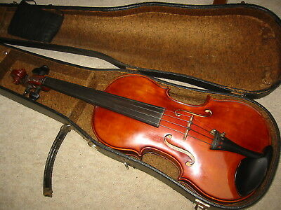 "Beautiful old 4/4 Violin violon, nicely flamed ""Hans Volkmann Ingolstadt 1948"""