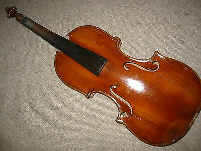 "Interesting, old 4/4 Violin violon, nicely flamed ""Angelus Soliani fecit Mutin"""