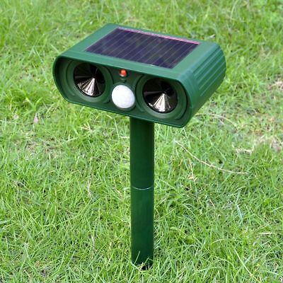 Animal Deterrent Fox Cat Dog Chaser Repeller Solar Repellent Ultrasonic Powered