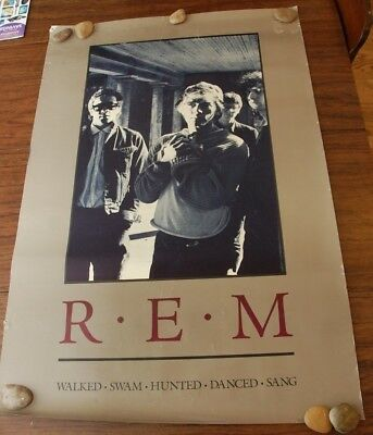 REM R.E.M. Cuyahoga Walked Swam Hunted Danced Poster 1986 Life's Rich Pageant