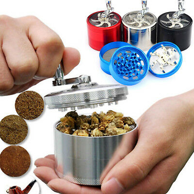 40MM 4-Layers Herb Grinder Spice Tobacco/Weed Smoke Metal Crusher Leaf Design
