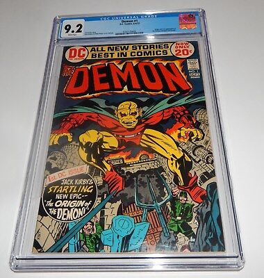 Demon #1 CGC 9.2  WHITE Pages 1st Etrigan the Demon Kirby