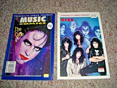 Kiss & The Cure 1992 Personality Comics - Music Comics Unauthorized Biography !