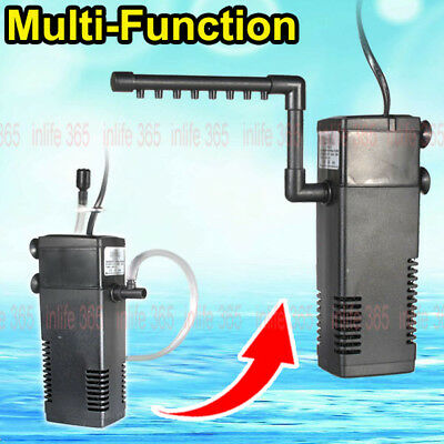 3 in 1 Aquarium Fish Tank Filter / Water Pump 300L 600L Spray Bar Internal