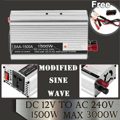 12V To 240V 1500W(3000W) Power Inverter Modified Sine Wave Car Converter USB MG