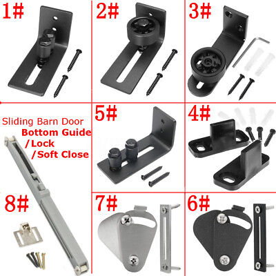 8 Kinds Wall Mount Floor Bottom Guide Sliding Barn Door Stay Roller Hardware