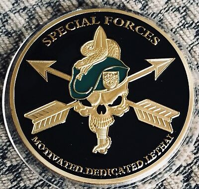 Special Forces Medallion Coin Collectors 40mm with Capsule United States Army
