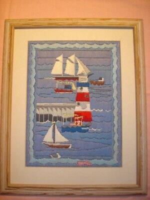 Stunning nautical tapestry - Framed + mounted