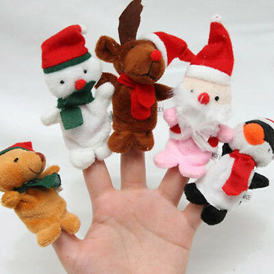 5/10Pcs/Pack Baby Kids Finger Animal Educational Story Toys Puppets Cloth Plus