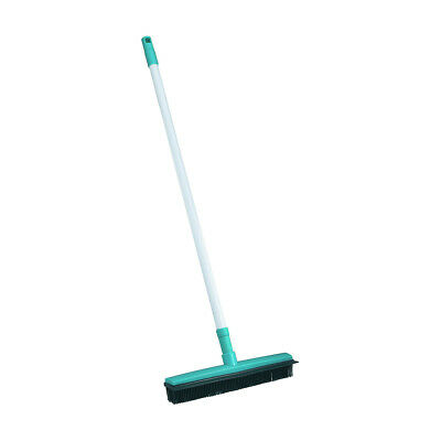 Rubber Broom With Sqeegee Green Telescopic Sweeper Clean Cleaning Hand Tool Home