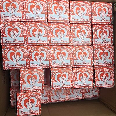 4 Boxes Love Roses Glass tubes. 144 Total
