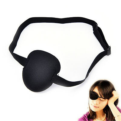 Medical Use Concave Eye Patch Foam Groove Adjustable Strap Washable EyeshadeA2H