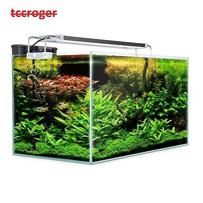 Aquarium Fish Tank Nano LED Light Complete Set Filter Pump  70L