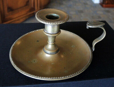 Antique Atkin Bros Brassed Finish Silver Plate Candle Holder No Snuffer #31