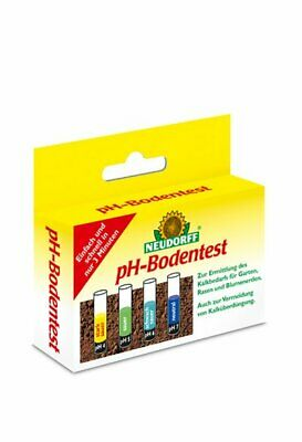 Neudorff ph-Bodentest 1 Set ph-Wert Bodenuntersuchung Kalk Gartenkalk 8 Tests