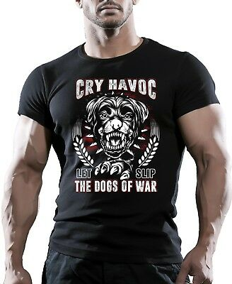 DOGS OF WAR MMA FIGHTING GYM BODYBUILDING T-Shirt WORKOUT CLOTHING TRAINING