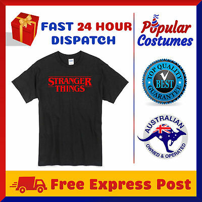 Stranger Things T-Shirt Adult Tee TV Show Tops Womens Mens Casual Cotton T Shirt