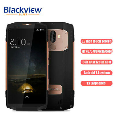 "5.7""18:9 Blackview BV9000 Pro 128GO 4G Smartphone IP68 FACE ID Imperméable 2-SIM"