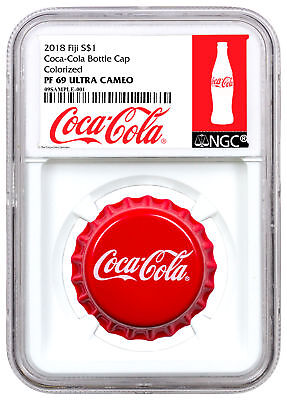 2018 Fiji Coca-Cola Bottle Cap-Shaped 6 g Silver NGC PF69 Exclusive SKU54040