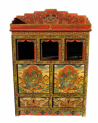 Autel Buddhist- Furniture tibetain-2 Drawers Painted at main-121x85cm Nepal-