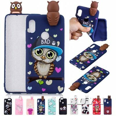 For Xiaomi OWL 3D Cute animal silicone Soft TPU Phone Case Cover protective skin