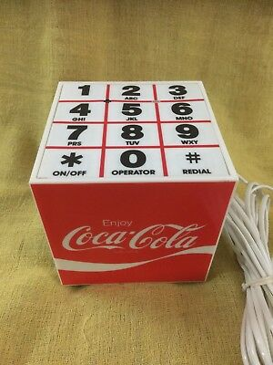 Coca-Cola Collectible Cube Shaped Landline Phone USA Olympic