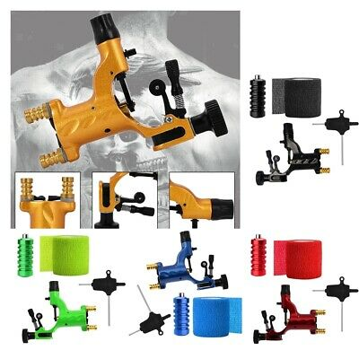 Rotary Dragonfly Tattoo Machine Grip Supply Handle Cover Bandage Wrench Kit