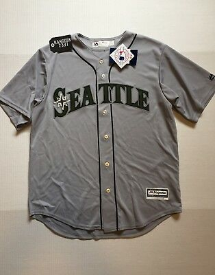 ae5adf957 MAJESTIC MLB MENS Seattle Mariners Baseball Shirt New L -  12.99 ...