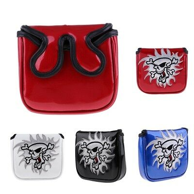 Deluxe PU Golf Square MALLET Putter Head Cover Headcover & Magnetic Closure