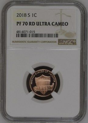 2018-S LINCOLN SHIELD PROOF CENT 1c NGC PF70 ULTRA CAMEO
