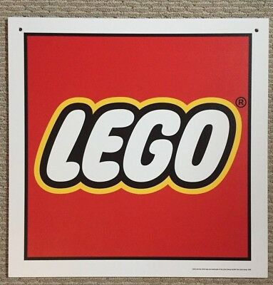 "Lego Logo Promotional Advertising Sign 16"" x 16"" two sided"