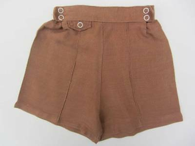 Boys vintage brown linen shorts age 2-3 40's 50's Goodwood Evacuee costume