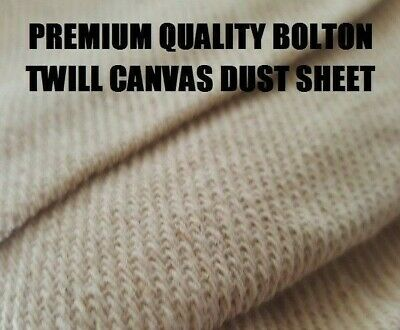 EXTRA HEAVY DUTY COTTON TWILL BOLTON TWILL DUST SHEET 10ft x 8ft PRO QUALITY