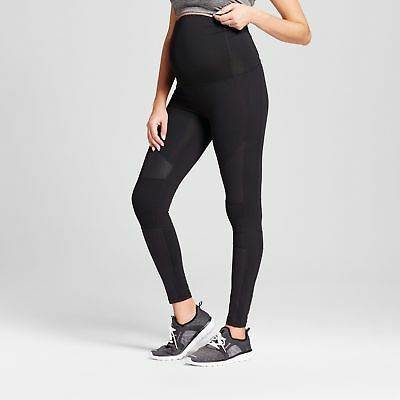 Ingrid & Isabel Active Leggings Moto w/ Maternity Crossover Panel, BLACK~ XL